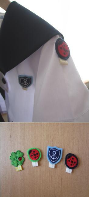 制服に名札ワッペン